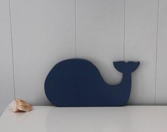 Whale nursery decor // Wood whale decor // nautical decor // wall decor