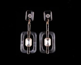 Geometric Earrings, Dangle Earrings, New Earrings, Statement Earrings, Black Earrings
