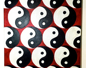 Yin and Yang on Canvas Original Acrylic Painting