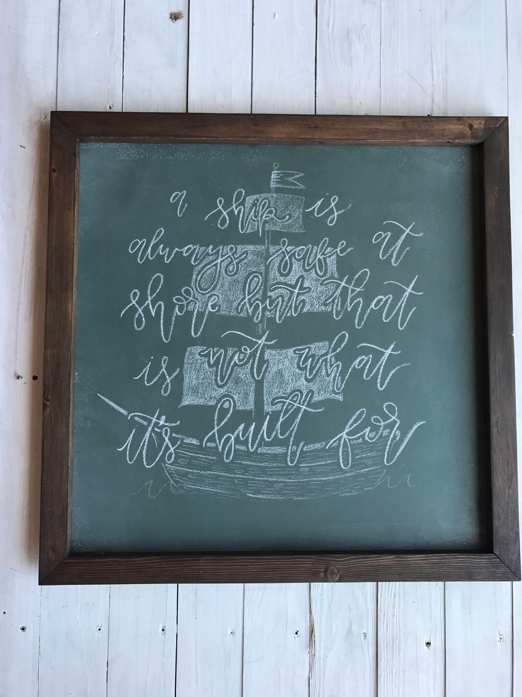 Chalkboard Art. Framed Chalkboard. Chalkboard Sign. Large | Etsy