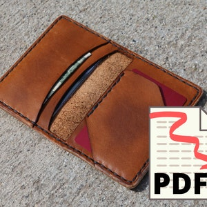 leather wallet pattern with instructionbuild along patternwallet patternleathercarft patternpdf patternwallet templateDIY pattern