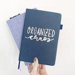 SALE   Organized Chaos Planner Girl Vinyl Planner Sticker, Handlettered Quote, Modern Calligraphy Quote Sticker, Bullet Journal