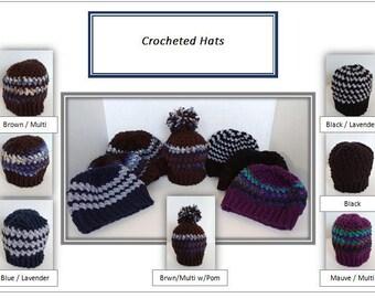 Crochet Beanie Hat - Adult