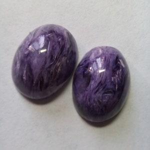 High quality Siberian Charoite cabochon Russian Charoite gemstone 43mm*24mm*5.5mm
