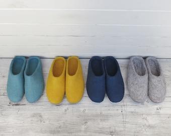 Traditional Greek Woolen  Slippers 100/% Wool Tops Leather Soles 3 uk 35