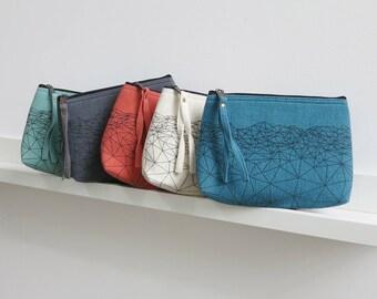 Halla Small Pouch  (in 5 colours) with Himalaya Vista design