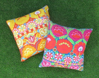 Kaffe Fassett 40cm Cushion Cover in Teal or Coral