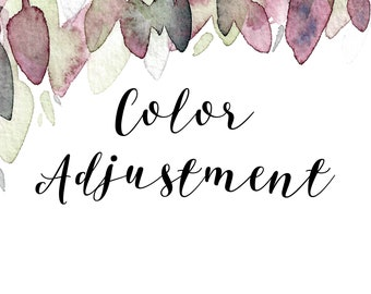 Color Adjustment Add On