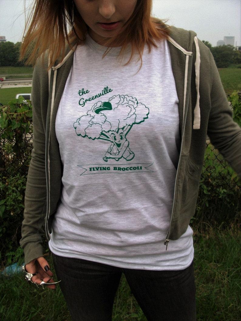 7c1f231a Broccoli Baseball Mascot T-shirt : Hand Screen Printed Unisex | Etsy