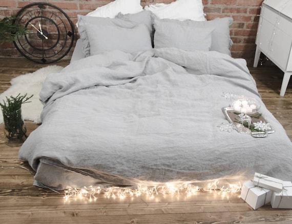 Wunderbar Natürliche Leinen Bettwäsche Stonewashed Königin Bettbezug | Etsy
