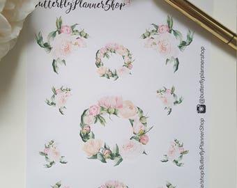 Planner Flower Stickers Sticker