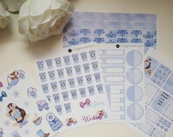Planner stickers decals set winter fashion