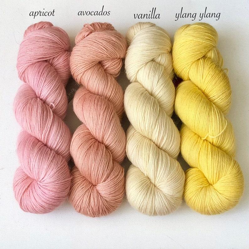 Hand Dyed Yarn 100% Superwash Polwarth Wool Fingering Weight 437yard  Knitting Yarn Crochet Yarn Assortment