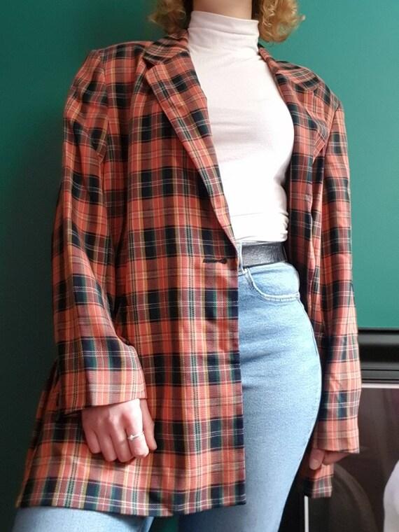 Tartan Blazer, Vintage Jacket, Vintage Blazer, Vin
