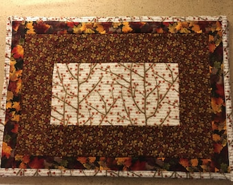 Fall print placemats