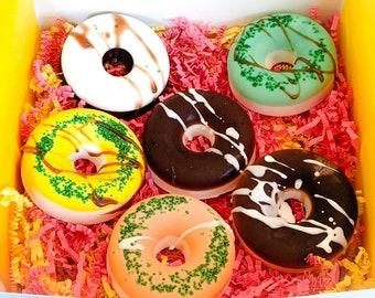 PAMPER GIFT BOX for Kids - Birthday Gift for Kids - Natural Bath Soap Bars for Kids - Donut Soap Bars - Natural Gift Basket