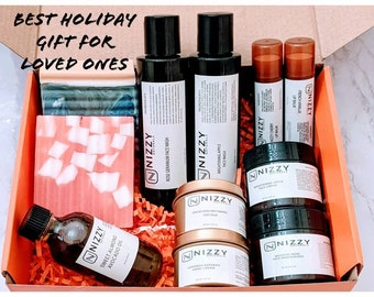 Christmas Gift Box for Family, Men and Women Facial Skin Care Gift Box,Natural Skin Care Products Set for Him + Her,Gift for Family and Kids