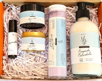 SPA GIFT for HER - Lavender Perfume - Body Lotion Care Package - Spa Box For Woman - Gift For Her - Face Moisturizer - Self Care Gift Box