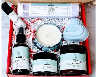 Mens Spa Gift, Gift Box for him, Mens Skincare Gift Set, Skincare Gift Box, Best Friend Gift, Birthday Gift, Natural Gift Box, Best Gift Him