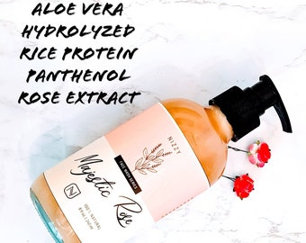 Natural Rose Face Wash, Face Wash for Dry Skin, Facial Cleaner, PH Balanced Face Wash, Gentle Facial Cleanser, Moisturizing Face Wash 4 oz