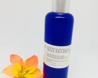Natural Rose and Neroli Toner|Face toner| Facial Toner| Toner for Oily Skin| Skin Toner| Vegan Face Toner| Alcohol Free Toner| Best Gift