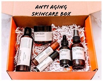 Natural Skin Care Gift Box for Women- Mothers Day Gift Box - Vitamin C Serum - Anti Aging Skin Care Gift Box - Mothers Day Beauty Box