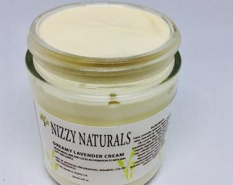 Lavender Face Body Cream| Moisturizing Cream with Cocoa Butter And Almond Oil| Hydrating| Dry Skin| Face Cream| Night Cream| Calming Cream