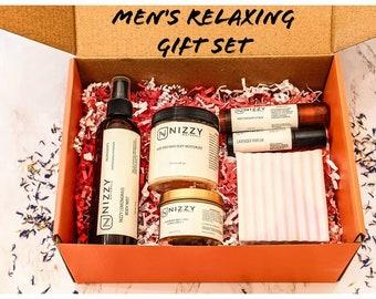 Men's Gift Box Set, Men's Relaxing Gift Set, Self Care Set, Natural Skincare Gift Box, Best Friend Gift, Birthday Gift for Him