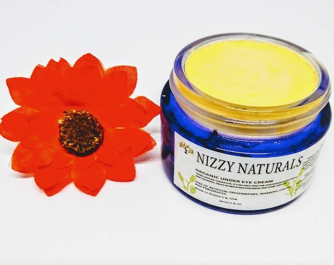 Featured listing image: Organic Under Eye Cream, Anti Aging Eye Cream, Dark Circles Dry Skin Eye Cream, Brightening Under Eye Cream, Rosehip and Sea Buckthorn Oil
