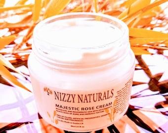 Natural Rose Face Cream, Day Cream, Anti Aging Moisturizer, Rose Moisturizer, Light Day Moisturizer, Natural Moisturizer, Rose Cream Gift