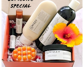 Birthday Gift Box, Holiday Gift, 6 Piece  Bath and Body Gift , Natural Skincare, Get well Gift, Gift for Special Friends, Relaxation Gift