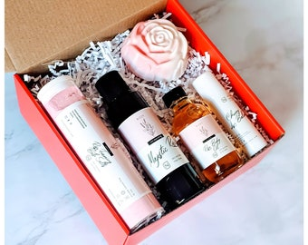Womens Relaxing Gift, Womens Spa Gift Set, Natural Gift Box, Best Friend Gift, Birthday Gift, Pamper Gift for Her, Thank You Gift for BFF