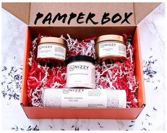 Foot Scrub Spa Kit, Foot Care Gift Box, Foot Care Gift, Foot Spa Kit, Foot Pampering Spa Gift Box New Mom, New Mom Care, Pamper box