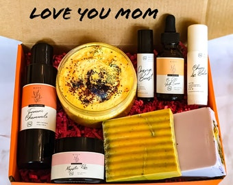 Pamper Gift Set For Mom, Gift for Mom, Gift Set Mother's Day, Natural Skincare, Natural Products for Mom, Gift Basket for Mother's Day