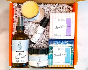 NATURAL GIFT for HIM, Gift Box For Men, Natural Skincare Set, Birthday Gift for Him, Self Care Gift for Men, Skincare Set, Relaxing Gift Box