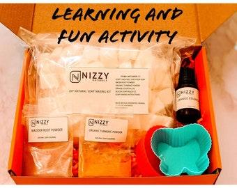 Natural Soap Making DIY Kit, Goat milk Soap Making Kit, Soap Making Kit with Reusable Molds, Soap Making DIY Kit, Soap Making Kit for Kids