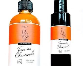 Turmeric Face Wash - Facial Cleanser Acne Skin - Paraben Free Wash