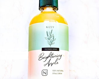 BRIGHTENING APPLE AHA Face Wash - Gentle Exfoliating Cleanser - Clear Skin