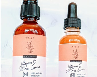 Brightening Vitamin C Face Serum - Hyaluronic Acid Serum - Serum Glowing Skin - Clear Skin - Vitamin C for Sensitive Skin - Fragrance Free