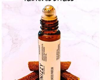 NATURAL SANDALWOOD PERFUME , Roll On Perfume Bottle, Roll On Perfume Oil, Aromatherapy, Vegan Perfume, Essential Oils Perfume