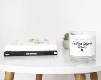 Besties before Testes Soy Candles, Best Friend Gifts, Funny Candles