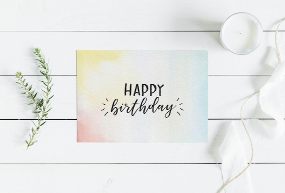 Printable Birthday Card For Her Happy Instant