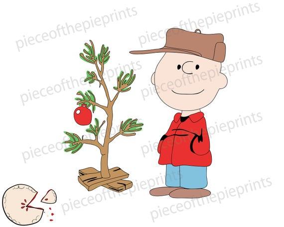 Charlie Brown Christmas Tree Image.Charlie Brown Christmas Tree Plus Bonus Svg Clipart Hand Drawn Digital Image Personal Commercial
