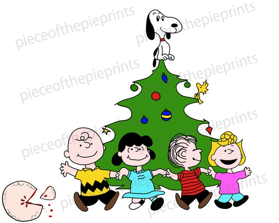 Christmas Snoopy.Charlie Brown Christmas Snoopy Svg Clipart Hand Drawn Digital Image Personal Commercial