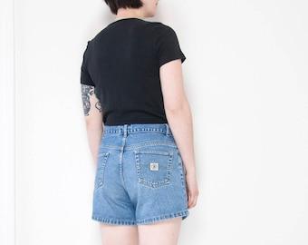 90s Classic Stone Wash Jean Shorts / B.U.M Equipment / Size 28-29