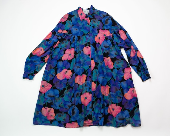 RAYON SMOCK Dress / Suttles and Seawinds Blue FLOR