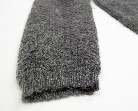 GREY MOHAIR Sweater / Vintage 90s Fluffy Grey Box… - image 5