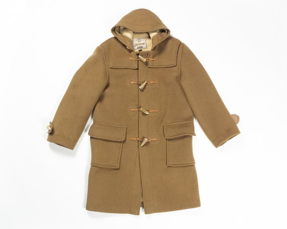 VINTAGE GLOVERALL Classic Duffle Coat Camel Wool H