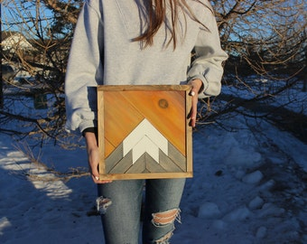 Sunrise Mountain Wood Art