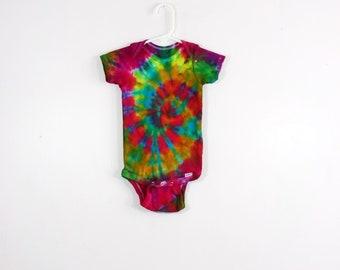 Tie Dye  Rainbow Stripes   Long-sleeved Onesie  Newborn